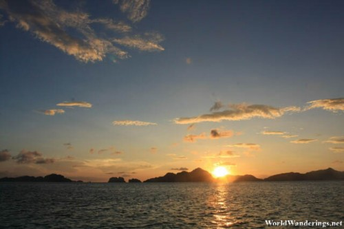 Sunset at Ipil Beach at El Nido