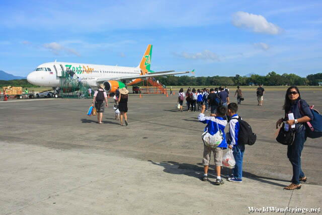 Walking Towards My ZestAir Flight to Manila