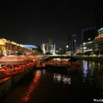 Vibrant Night Scene at Clarke Quay