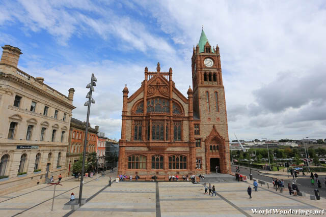 Guildhall from Guildhall Square in Derry-Londonderry