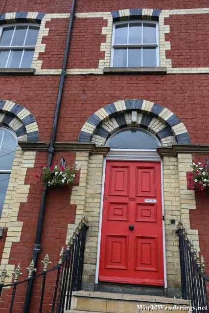 Bright Red Door at Mount Southwell Terrace in Letterkenny