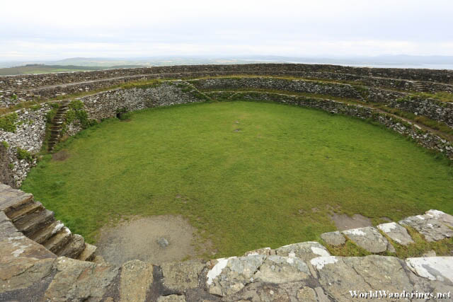 View of the Grianan of Aileach from Above