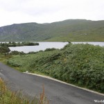 Paved Road Along the Shores of the Lake at Glenveagh National Park