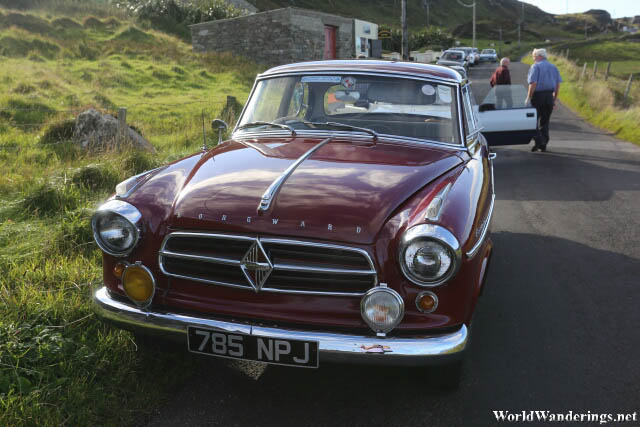 Vintage Car at Malin Head