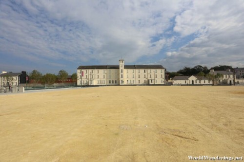 Vast Ebrington Square at Derry-Londonderry