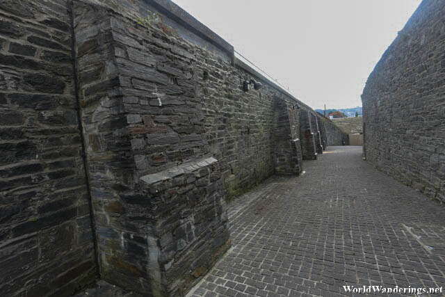 Imposing Walls of Ebrington Square in Derry-Londonderry