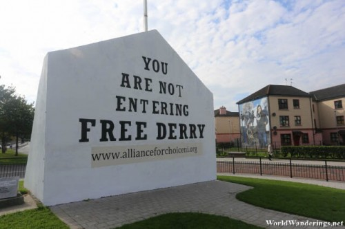 Sign in the Free Derry Area