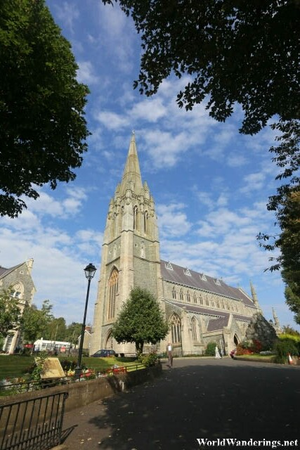 Entering the Grounds of Saint Eugene's Cathedral in Derry-Londonderry