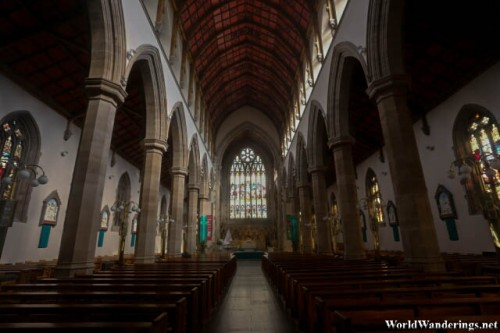Inside Saint Eunan's Cathedral in Derry-Londonderry