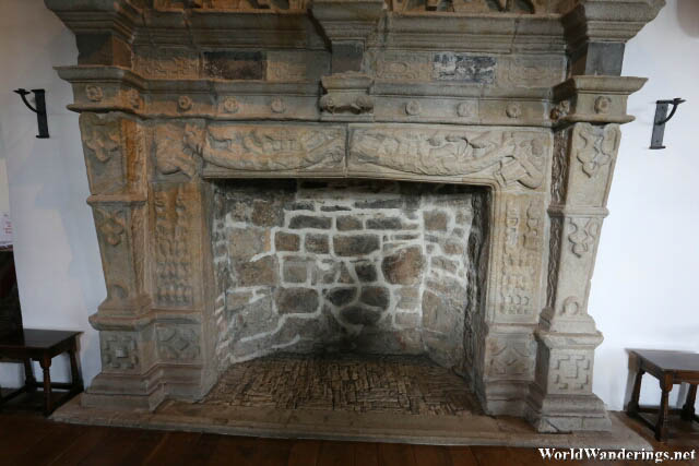 Massive Fireplace at Donegal Castle