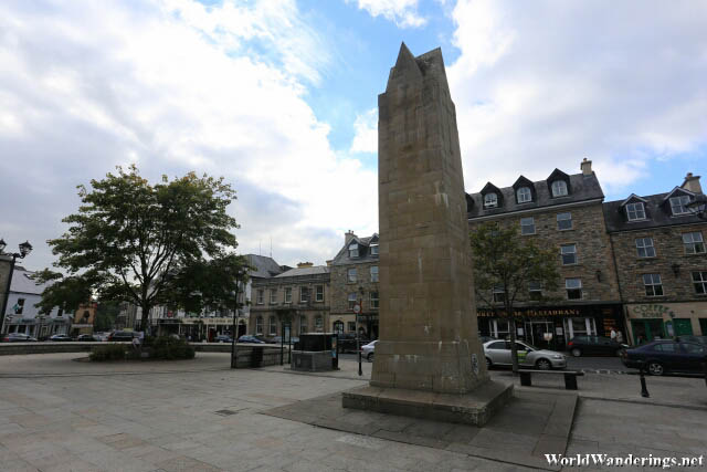 Diamond Obelisk at a Park in Donegal Town