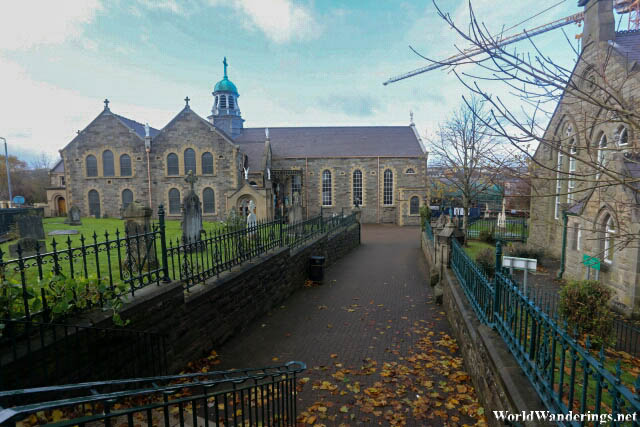 Going to Saint Columba's Long Tower Church in Derry