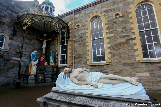Christ Laid in the Tomb at Saint Columba's Long Tower Church in Derry-Londonderry