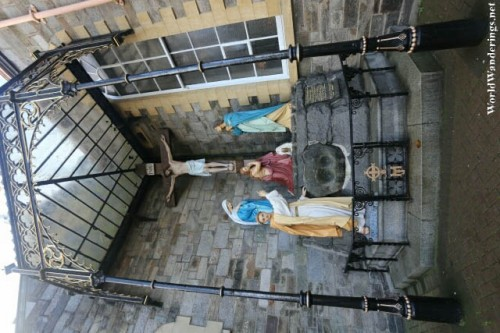 Scene from Calvary at Saint Columba's Long Tower Church in Derry-Londonderry