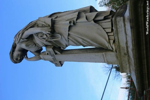 Impressive Sculpture at the Cemetery at Saint Columba's Long Tower Church in Derry-Londonderry