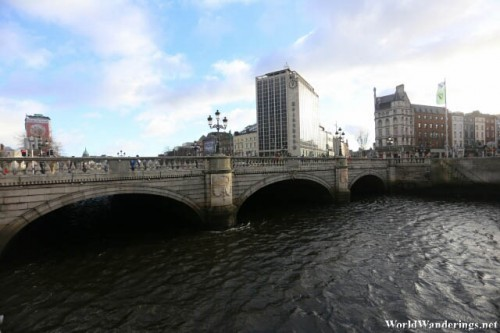 O'Connell Bridge Over the River Liffey