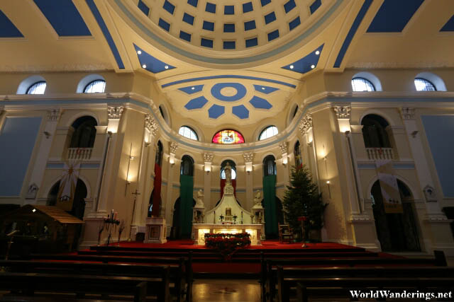 Inside the Church of the Immaculate Conception in Dublin