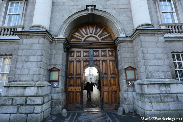 Going into Trinity College
