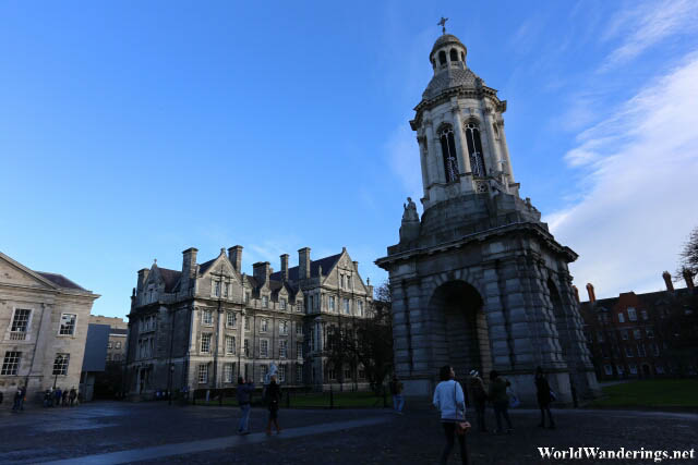 Campanille of Trinity College in Dublin