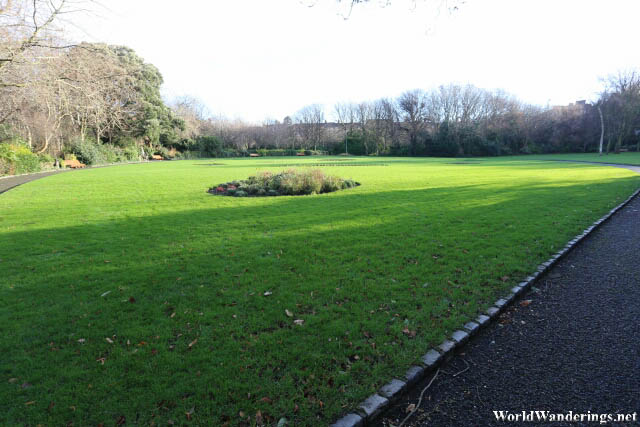 Open Field in Merrion Park in Dublin