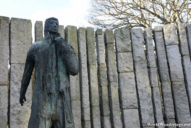 Statue of Wolfe Tone at Saint Stephen's Green in Dublin