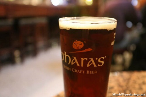 O'Hara's Beer at the Stag's Head in Dublin