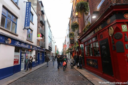 Going to the Temple Bar in Dublin