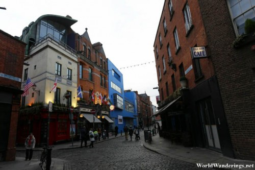 Some Bars in the Temple Bar Area in Dublin