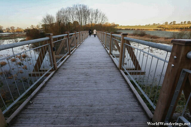 Frosty Bridge at the Newgrange Visitor Center