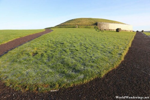Behind the Newgrange Stone Age Passage Tomb