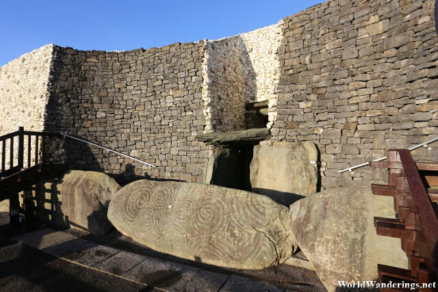 Beautilfully Carved Kerbstones at Newgrange Stone Age Passage Tomb