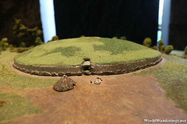 Scale Model of the Newgrange Stone Age Passage Tomb