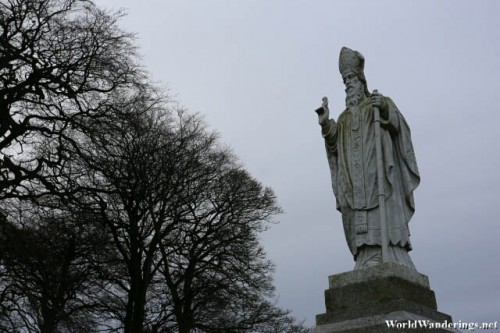 Statue of Saint Patrick at the Hill of Tara