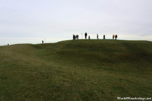 A Lot of People Exploring the Hill of Tara
