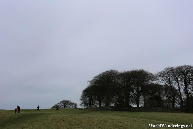 Walking Back to the Entrance of the Hill of Tara