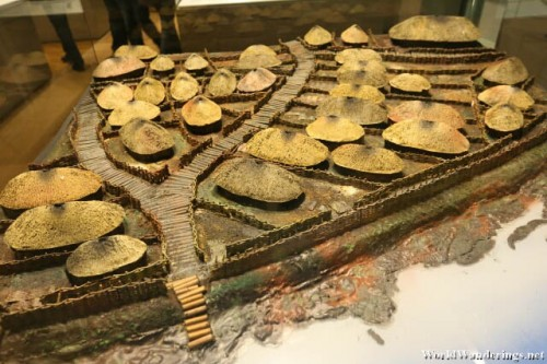 Model of a Viking Settlement at the National Museum of Ireland