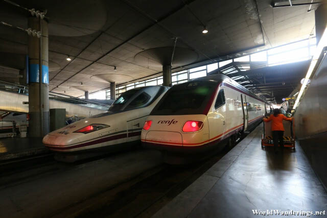 High Speed Trains at the Madrid Atocha Railway Station