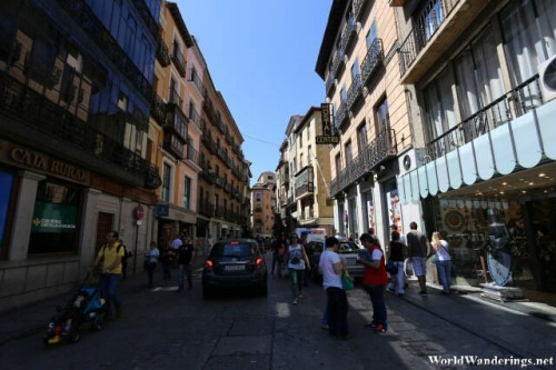 Shops Line the Streets of the Historic City of Toledo