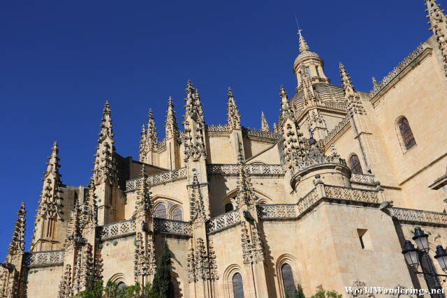 Closer Look at the Spires of the Segovia Cathedral