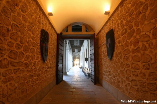 Hallway into the Alcazar de Segovia