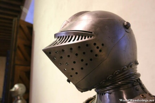 Detail of Helmet at the Alcazar of Segovia