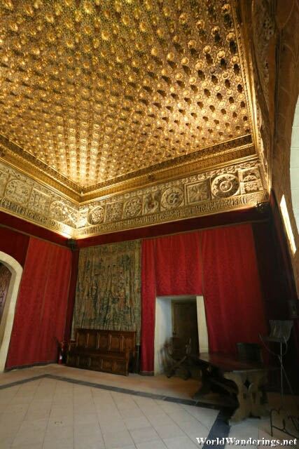 Magnificent Ceiling at the Alcazar de Segovia