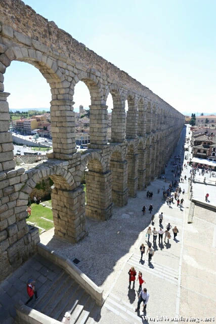 View of the Aqueduct of Segovia
