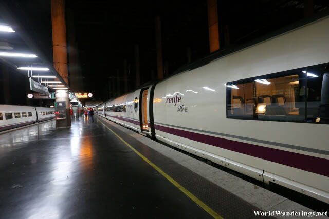 Platform for the High Speed Train to Barcelona