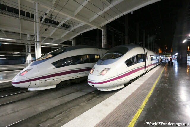 High Speed Trains at the Madrid Atocha Renfe Railway Station