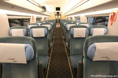 Inside the High Speed Train from Madrid to Barcelona