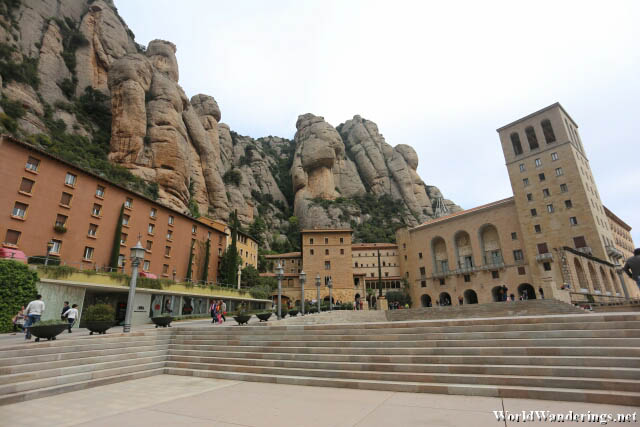 Going to the Basilica at Montserrat