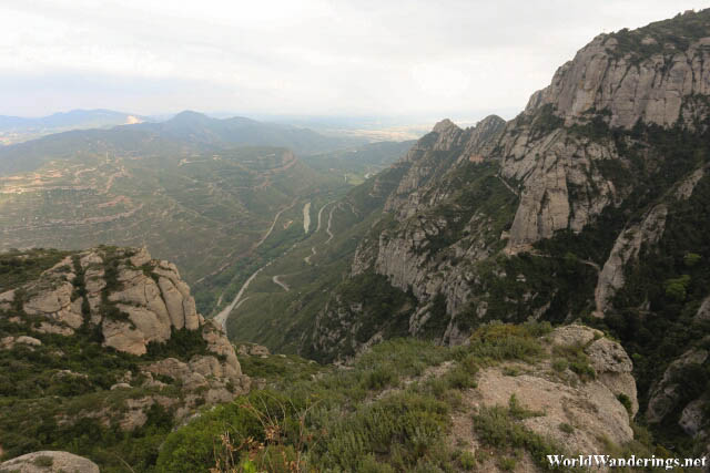 Beautiful Look at the Mountains Around Montserrat