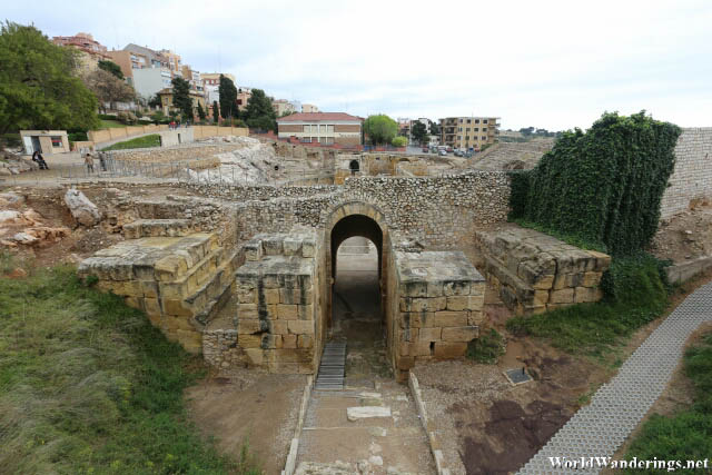 Inside the Roman Amphitheater at Tarraco