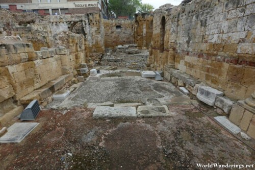 Foundation of an Old Structure at the Roman Amphitheater at Tarraco
